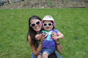 sunglasses…and my friend's adorable (now three year old!) daughter