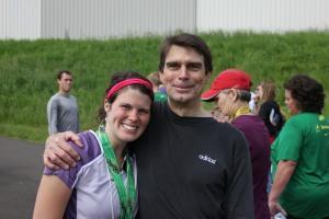 Marathon finish with my dad.