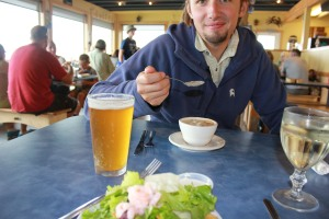 Shrimp salad in Cannon Beach, OR.